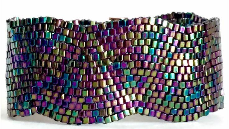 Peyote Stitch Bracelet ( Diagonal )- Peyote Dikiş Bileklik ( Çapraz ) - YouTube