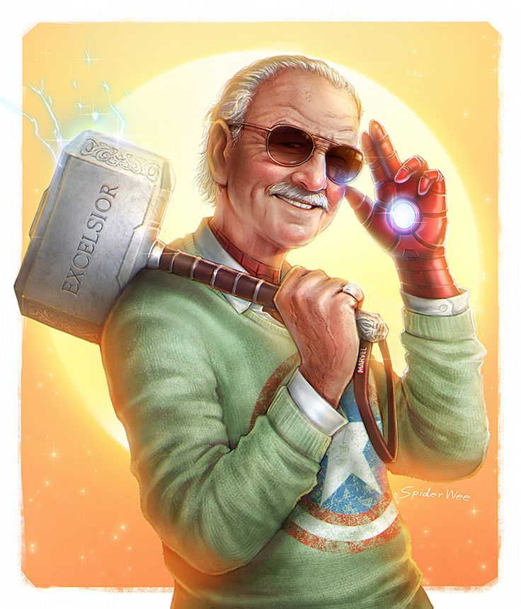 ArtStation – Excelsior : Stan Lee 1922-2018, SpiderWee .