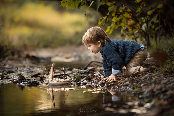 This is an amazing picture. Captures that spark in a little boy that grows into an adventurous spirit.