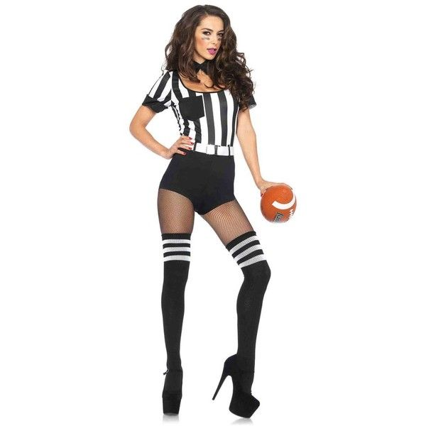 shot caller referee costume 415 sek liked on polyvore featuring costumes white football halloween - Halloween Costume Football