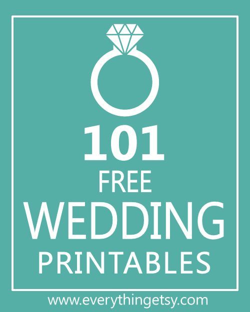 16 best FREE Wedding Printables images on Pinterest