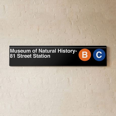 Museum of Natrual History B C sign by Urban Subway Signs @ Touch of Modern  //  A favorite subway stop of mineNyc Subway, Natural History, Subway Signs, Subway Style, Museums Signs, Art History, History Museums, 81 Street Museums, Nature History