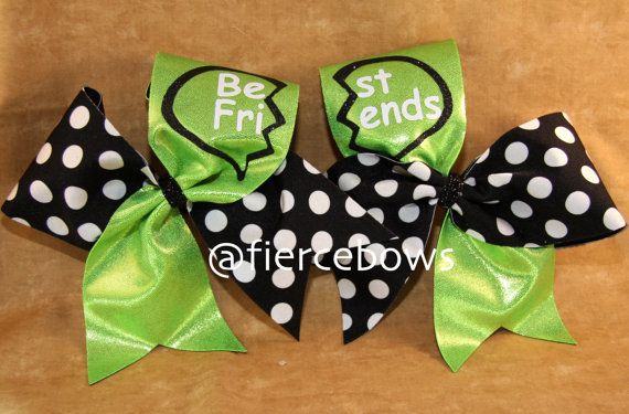 Best Friends Cheer Bows by MyFierceBows on Etsy