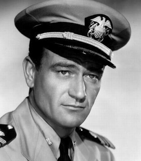 "The right wing puts Marion Michael Morrison on a pedestal, & calls him a ""hero"", but ""John Wayne"" was just an ACTOR & he NEVER served in the military !"