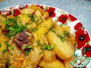 Картофель, тушеный в сливках, необычайно вкусный и ароматный