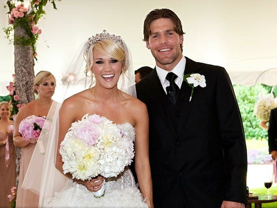 Carrie Underwood and Mike Fisher.  Two of my fav people! How perfect!