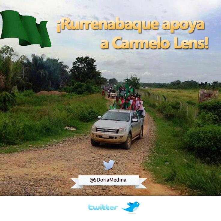 ¡Rurrenabaque se volcó al aeropuerto a recibir a Carmelo Lens!