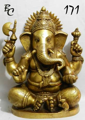 Brass Ganesh Statues 01
