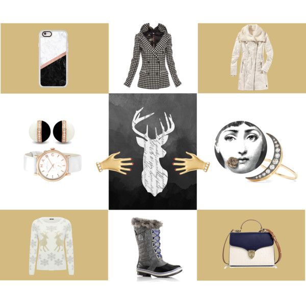 Winter Toys by inogitnadesigns on Polyvore featuring M&Co, Jean-Paul Gaultier, Title Nine, SOREL, Aspinal of London, Marc by Marc Jacobs, Andrea Fohrman, Sonia Rykiel, Casetify and Fornasetti