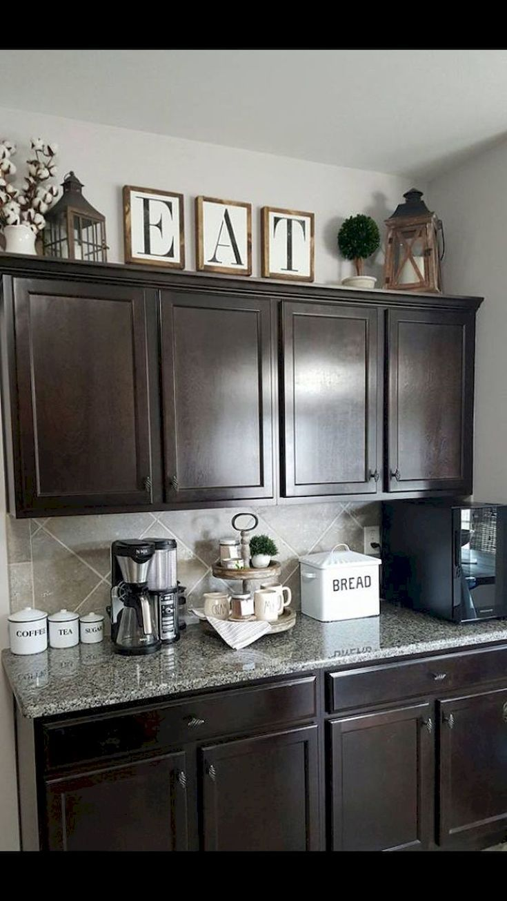 Makeover Your Kitchen Cabinets For More Storage And More Floor Space Kitchen C In 2020 Kitchen Cabinets Decor Kitchen Decor Apartment Decorating Above Kitchen Cabinets