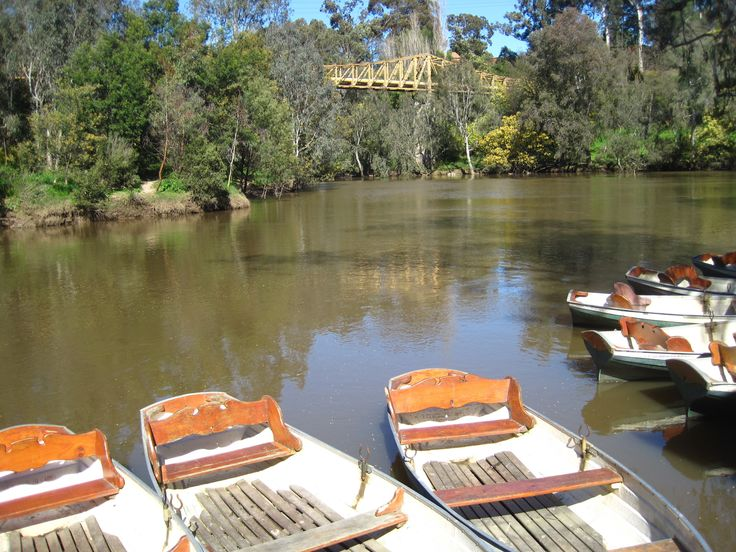 View from the Fairfield Boathouse, Yarra River  Melbourne Australia
