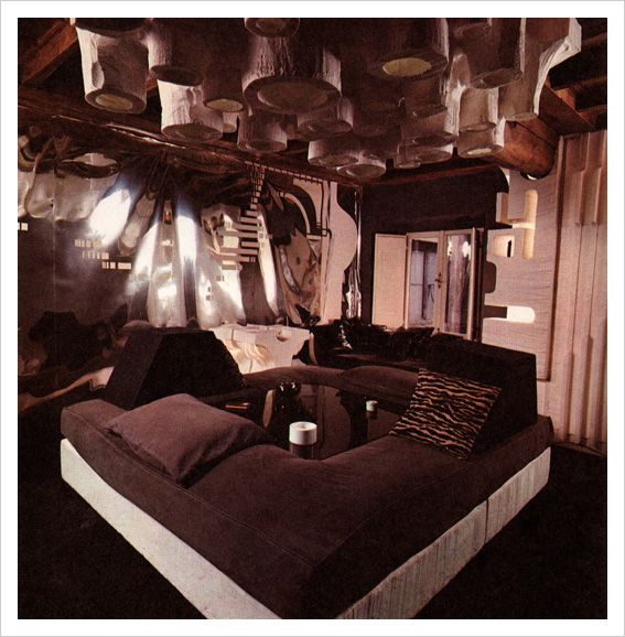 Home of Lino Schenal. Home of artist Lino Schenal. From the book  Underground Interiors, Decorating for Alternate Lifestyles by Norma Skurka  and Oberto Gili,