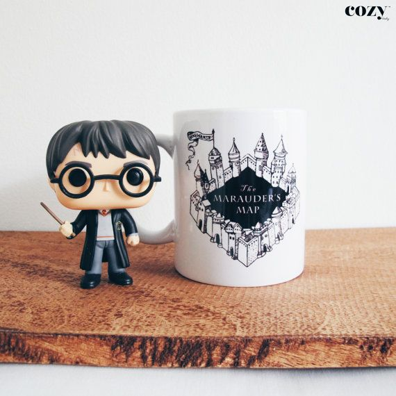 An adorably detailed Marauder's Map mug. | 15 Harry Potter Mugs You Need in Your Cupboard