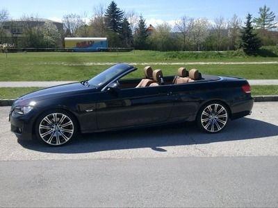 """BMW 320i Cabrio, $33000  Bj.5/09, 170ps, braunes Leder, 19"""" Sommer und 18"""" winter, keyless go, xenon, tempomat, Garantie, 62tkm, Freisprech, M3 Optik, jedes Service"""