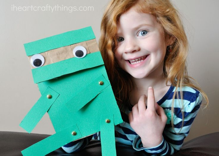 I HEART CRAFTY THINGS: Paper Bag Ninja Craft for Kids ...Hi-Yah!