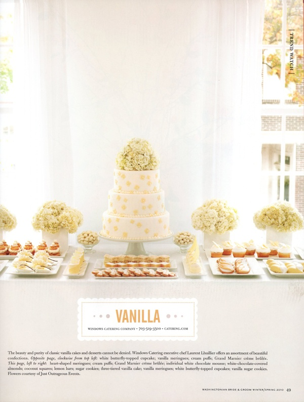 VANILLA sweets & desserts table by Windows Catering Company