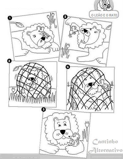 Sugestões Para Trabalhar a História O Leão e o Rato