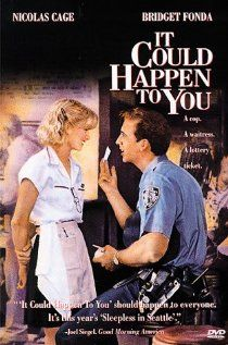 "236 Days of Romantic Films:Till Valentines:...IT COULD HAPPEN TO YOU...if only! This movie dares you to believe in white knights on white horses. LOVE STORY AD LOTTERY TICKET Loosely based on a true story it's a feel 'real' good Rom-Com. Brigette Fonda and Nic Cage share some descent chemistry, while Rosey Perez does spurned New York wife like a lunatic. QUOTE: ""I told you I'd share my ticket. I never planned on sharing my heart. Maybe I could get lucky twice today."""