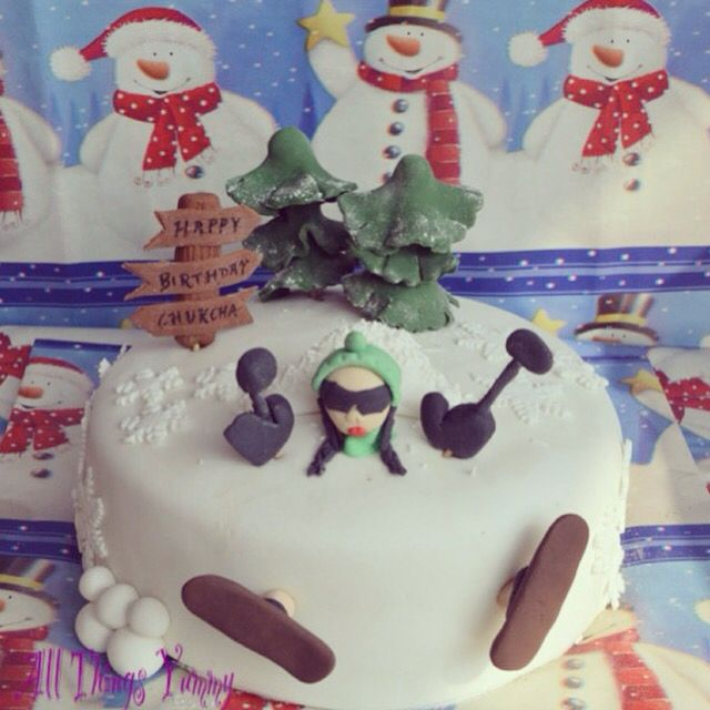 Our first ever cake to cross international borders ... This cake travelled from Delhi to Kyrgyzstan on a three hour flight!! Went as a surprise cake with a surprise visit from one bestie to another!! ☺️☺️ #skiing #skiingthemecake #girl #customisedcake #snow #trees #snowflakes #skiis #signboard #snowman #skiboards #skiboards #skis #skiboots #fondantcake #fondant #snowballs #skilove #skilodge #kyrgyzstan #delhitobishkek #muffler #cap #winter #snowcaps #mountains #atyummy #figurine #instacake…
