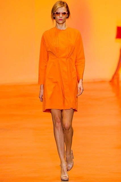 orange orange and orange!! The news from Fashion Week says for Spring 2012 - orange is IN!!!
