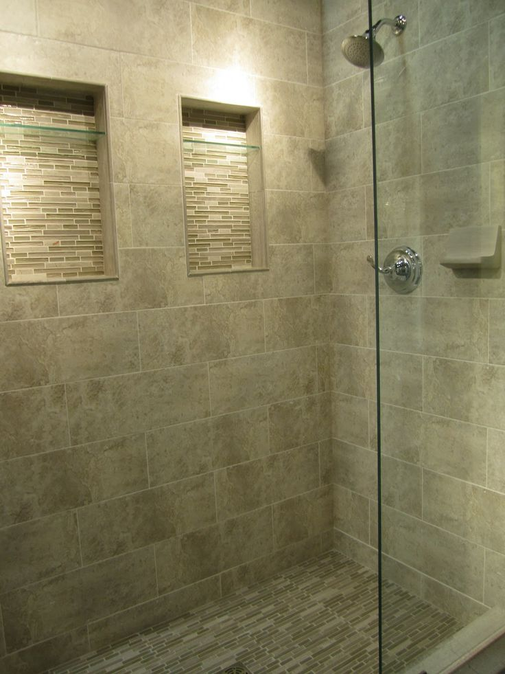 Shower Floor Tiles Which Why And How: Example Of Travertine In A Shower. They Used Glass As A
