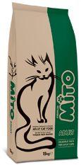 Mito Adult CatMito Adult Cat Tavuklu ve Balıklı Yetişkin Kedi Maması  Tüm ırklardan yetişkin kediler için hazırlanmıştır. Kedi ve Köpek Beslenme Uzmanları tarafından, Kaliteden ve Lezzetten ödün verilmeden formüle edilen Mito, Ekonomik fiyatını doğrudan satış stratejisi ile sağlamaktadır. Sindirilebilirliği yüksek ve %100 doğal hammaddeler kullanılarak hazırlanan Mito; kedinizin tüm besinsel ihtiyaçlarını karşılayarak, dengeli, sağlıklı ve formda bir yaşam sürmesini temin eder