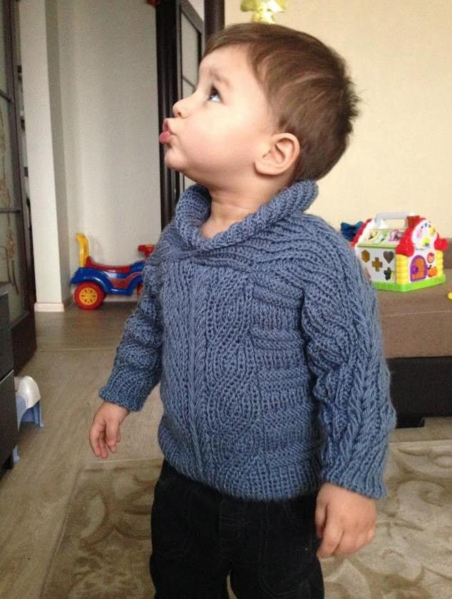Brioche Stitch Baby Sweater. 18-24 months