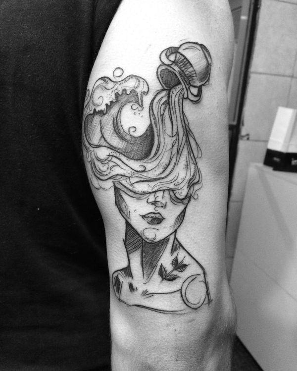 50 Top Aquarius Tattoos Design Ideas To Style Your Body September 2020 Aquarius Tattoo Aquarious Tattoo Body Art Tattoos
