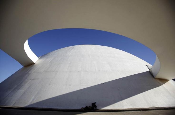 Edificio del Museo Nacional de Brasil, en Brasilia.