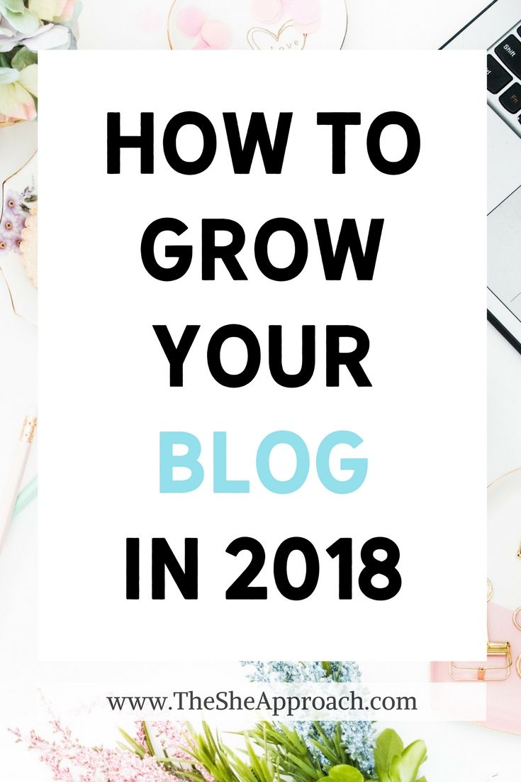 Wondering how to grow your blog in 2018? Get my top three strategies for increasing your blog's follower base, growing your income and boosting your traffic. Blog growth strategies from The She Approach. #blogging Blogging for beginners, blogging tips. #bloggingtips Get more pageviews, money and blog traffic in 2018.
