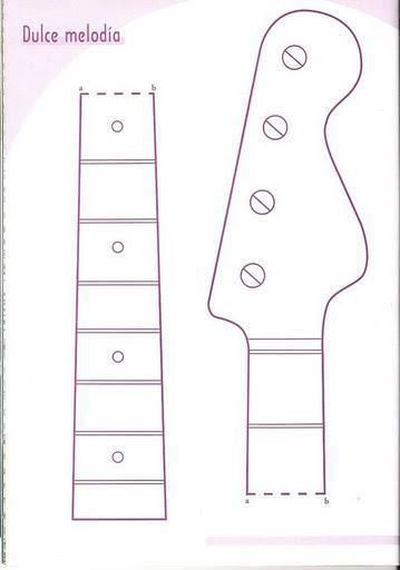 electric guitar template 1