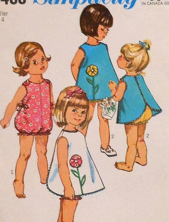 Vintage Summer Playsuit and Pinafore Sewing Pattern