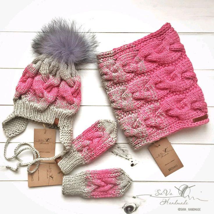 Купить Детский комплект: шапка, снуд, варежки - детская шапочка, детская шапка, шапка для девочки
