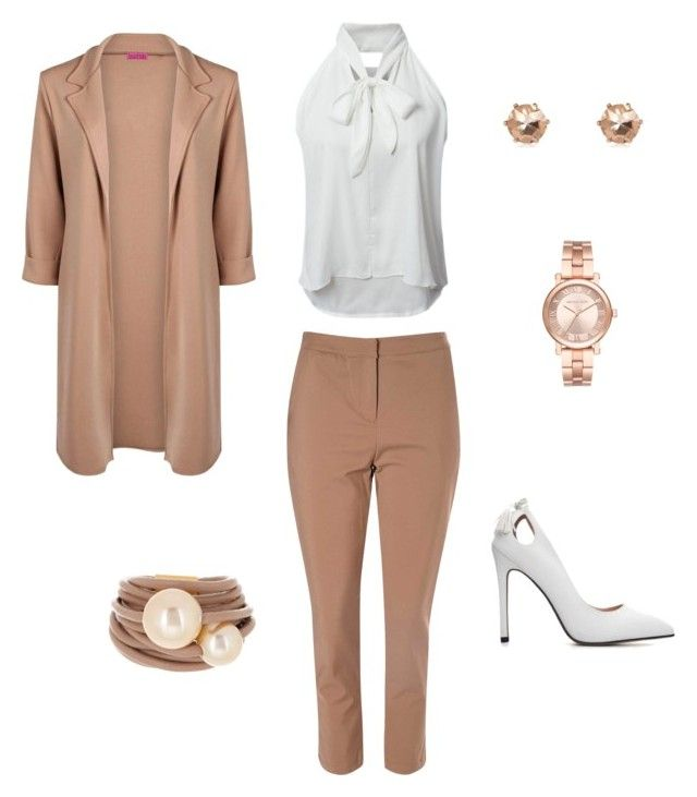 """Camel coat"" by borbalastyle on Polyvore featuring Boohoo, WithChic, Glamorous, Saachi and Michael Kors"