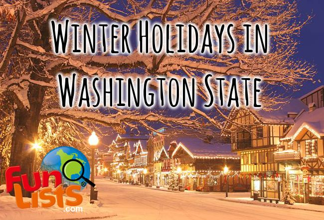 Winter holiday events for Seattle, Tacoma, Everett and other cities in Washington State. #Seattle