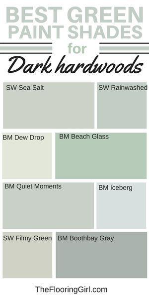 best shades of green paint for dark hardwood flooring interior paint