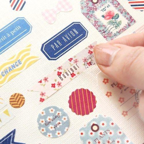 Diary Sticker DIY Calendar Book Sticker Scrapbook Decoration Planner 6sheets