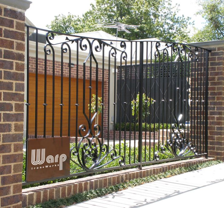 1000 images about brick and iron fence on pinterest for Brick and wrought iron fence designs