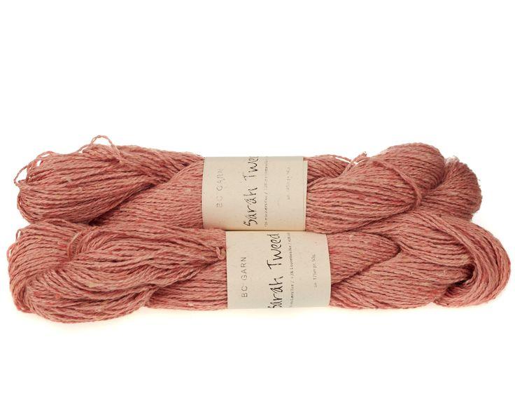 Sarah Tweed lækkert uld / silkegarn - Lyserød - 59 kr. per fed á 50 gram