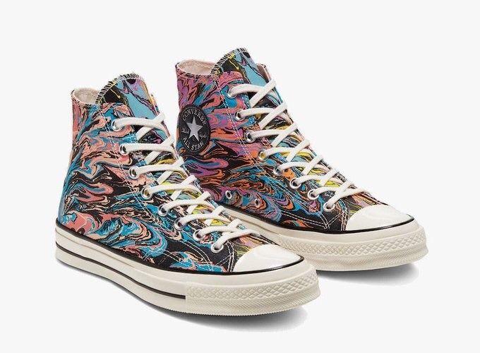 Converse Chuck 70 Hi Egret/Multi-Black | Converse, Sneakers ...