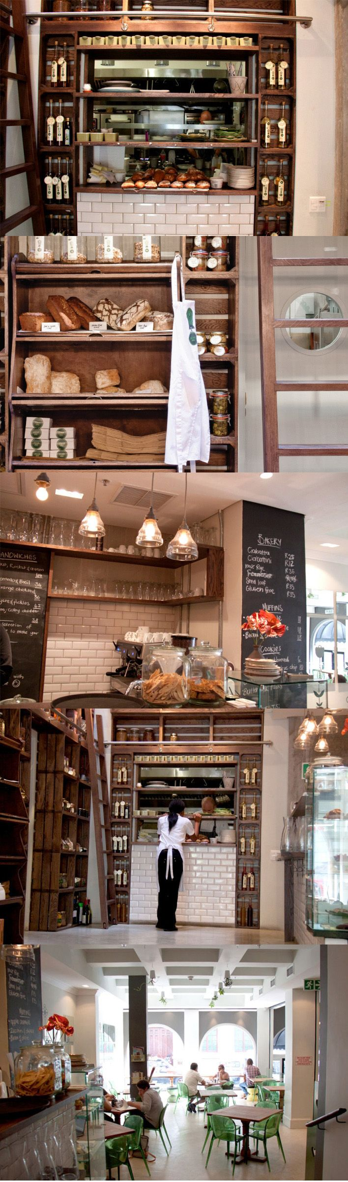 dear me cafe deli like white subway tiles. & chalk board wall menu