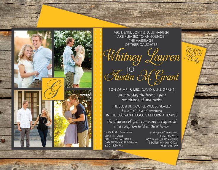 12 best Wedding Invitation Ideas images on Pinterest Invitation - best of wedding invitation maker laguna