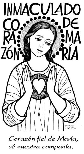 sagrado corazon de maria dibujo - Buscar con Google