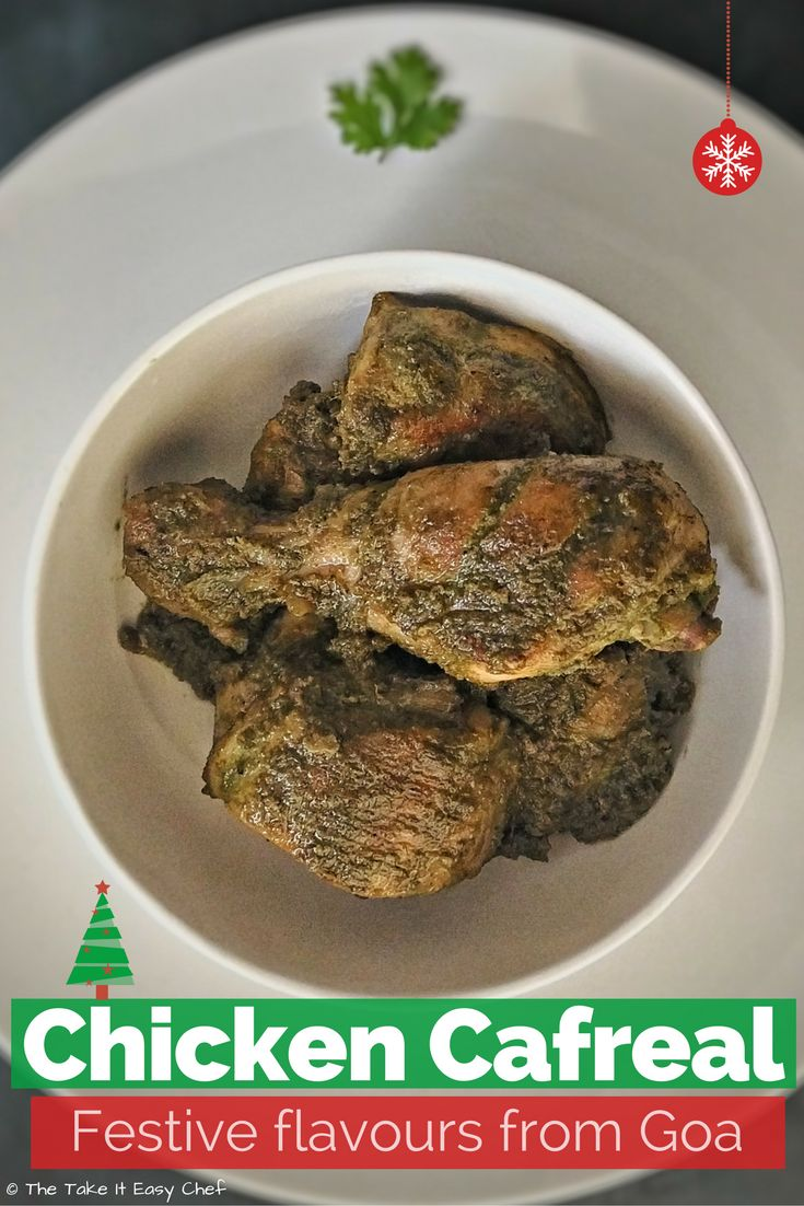 Chicken Cafreal is a Goan delicacy without which a festive feast is not complete. With a succulent deep-green colour from the coriander (cilantro) leaves, and intricately balanced aroma from various spices, this unique preparation will win over your taste buds.