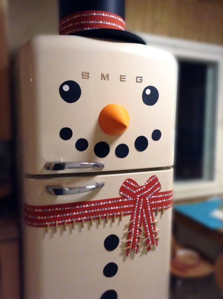 Lumiukkojääkaappi. lasten | askartelu | joulu | käsityöt | koti | sisustus | koristelu | DIY ideas | kid crafts | christmas | home | decorating | Pikku Kakkonen