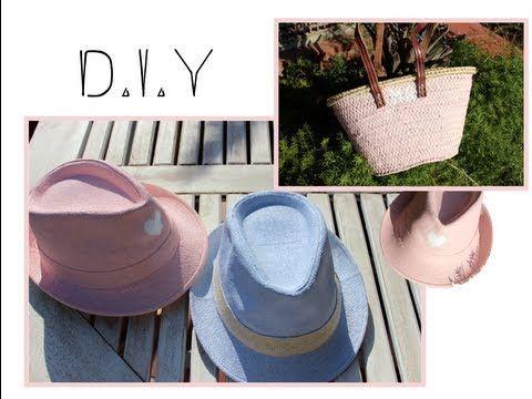 D.I.Y- Customiza tus sombreros y capazos - YouTube