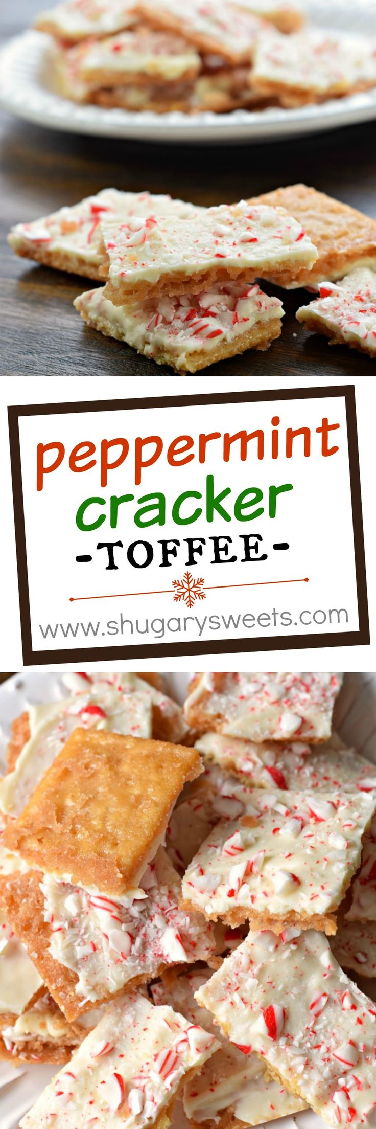This Peppermint Cracker Toffee is ridiculously easy and delicious ...
