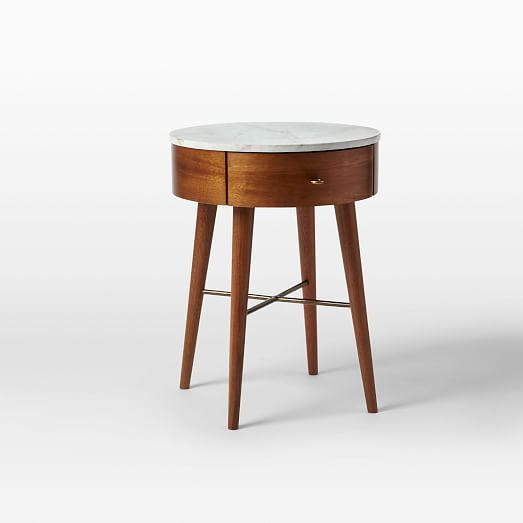Penelope Nightstand – Acorn | West Elm small - 18d x 23.5h large - 24d x 26.5h