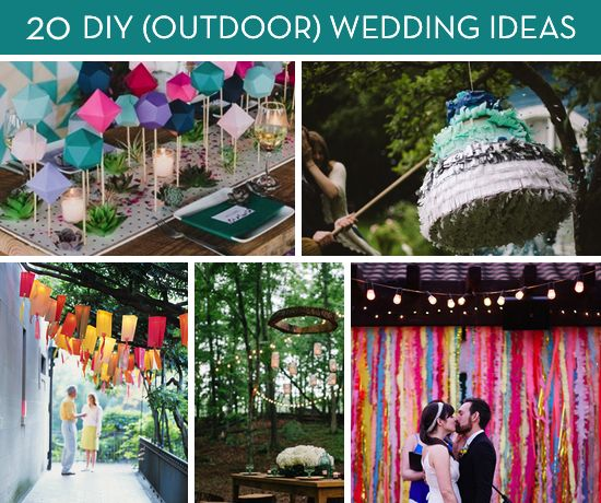 Garden Decorations Diy: Roundup: 20 Amazing DIY Outdoor Wedding Ideas