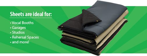 Audimute Sound Absorption Sheets | Materials That Absorb Sound | Soundproofing Blankets - Audimute Soundproofing